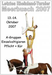 Letztes Rheinisches Turnier 2007 in Meerbusch